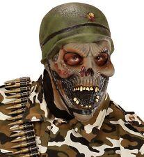 Zombie Soldier Halloween Fancy Dress Latex 3/4 Face Mask