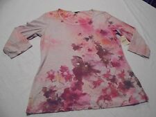 Coldwater Creek Misses Small Blooming Magic Floral Tee T-Shirt NWT