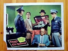 ESCAPE FROM SAN QUENTIN Orig Lobby Card JOHNNY DESMOND MERRY ANDERS ROY ENGEL