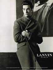 PUBLICITE ADVERTISING 0314   1998   LANVIN  haute couture homme manteaux