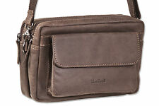 Woodland Wrist bag and Shoulder bag in a from untreated Leather