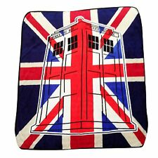 """Doctor Who """"Union Jack"""" Super Plush Silk Touch Blanket Throw"""