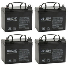 UPG 4 Pack - 35AH 12VOLT DEEP-CYCLE SEALED LEAD ACID RECHARGEABLE BATTERY 35AMP