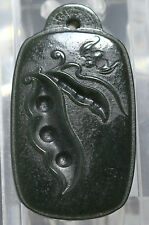 fine Chinese dark green Jade pendant