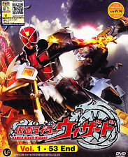Kamen Rider Wizard DVD (Eps : 1 to 53 end) with English Subtitle