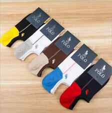 5 Pairs Pack Mens Casual HJC Polo Cotton Low Cut No Show Loafer Invisible Socks