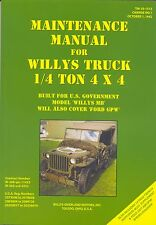 WW2 Jeep TM10-1513 Willys MB Ford GPW Manual book (not CD) US jeeps 1940's