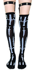 TOO FAST GOTHIC GOTH KNIVES STUDS PUNK EMO TATTOO ROCKABILLY GARTER BELT SOCKS