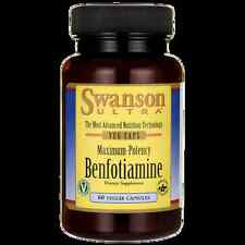 Swanson Maximum-Potency Benfotiamine 300 mg 60 Veg Caps