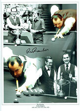 Ray REARDON Signed Autograph Large 16x12 SNOOKER Montage Photo AFTAL COA