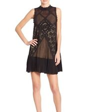 NWT $118 Free People One Angel Cotton Lace Dress, Black, Size S