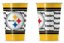 Pittsburgh Steelers Disposable Paper Cups - 20 Pack [NEW] NFL Party Tailgate