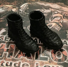 Mini veces nos Navy Seal Halo mt-m001 Black Tactical Botas Suelto 1/6th Scale