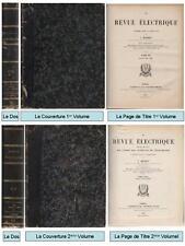 2 Vol : La Revue Electrique - J. Blondin - Bulletin Union Syndicats Electricité