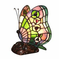 Bedroom Vintage Tiffany Table Light Butterfly w/ Stained Glass Lamp Shade Bar