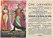 Programa de CINE. Título película: SALOMON Y LA REINA DE SABA.