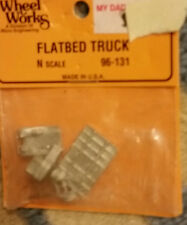 N Scale Wheel Works Flatbed Truck 96-131 NIP