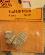 N Scale Wheel Works Flatbed Truck 96-131 NIP