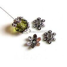 20 Caps calottes coupelles Fleur 10x10x3mm Perles apprêts création  bijoux _A231