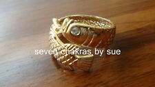 Feng Shui - Adjustable Rose Gold White-Eyed Arowana Ring