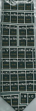 Periodic Table Chemistry Science Metal Gas Liquid Elements sleeved 100% Silk Tie