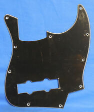 NEW REPLACEMENT PICKGUARD FOR IMPORT FENDER JAZZ BASS GUITAR BLACK