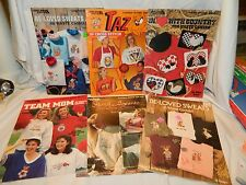 7 LEISURE ARTS COUNTED CROSS STITCH WASTE CANVAS LEAFLETS