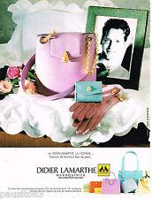 PUBLICITE ADVERTISING 055  1996  DIDIER LAMARTHE    maroquinier