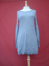 Elie Tahari Grey 95% Wool Other Fiber Women Sweater Mini Dress Tunic M
