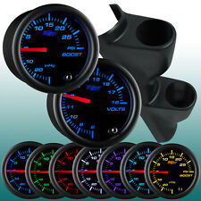 99-05 Volkswagen VW Jetta Dual Gauge Pillar Pod w 2 GlowShift Black 7 Gauges