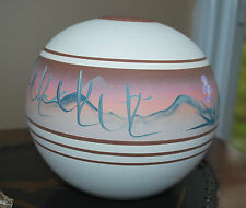 New West Pottery Brown/Tan Vase Southwestern Pueblo Design, Signed and Tagged