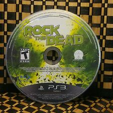 Rock of the Dead (Sony PlayStation 3, 2010) NO CASE # 10526