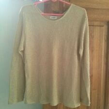 Gold Glittered Pullover/ Knit Top