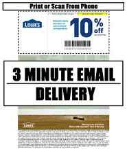 TWO (2x) * Lowes 10 % off PRINTABLE-COUPONS * In-store or Online * exp 02/15/17