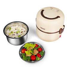 Electric Portable 1.3L Lunch Box Mini Rice Cooker Egg Lunch Food Steamer Pot
