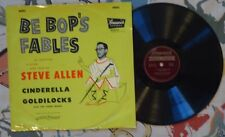 "Steve Allen 10"" 78 w PS Be Bop's Fables '53 Beatnik Cinderella Goldilocks VG+/VG"
