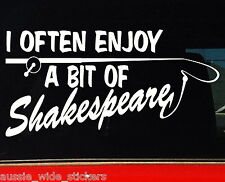 SHAKESPEARE Fishing rod & reel Boat or tackle box Funny Stickers 200mm