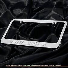 New chrome plated AMG Mercedes Benz license plate frame front rear