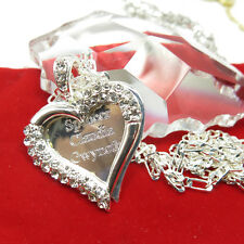 925 Sterling Silver Lovely Hearted Any Personalized Name Necklace Gift for Mom