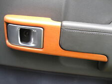 LEGNO CILIEGIO PORTA CARD HANDLE PULL Surround x4 per Range Rover L322 Autobiography