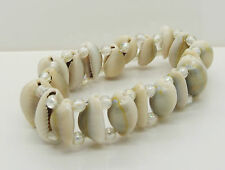 Natural Cowrie Shells Stretch Bracelet Cowry Shell Beads 56mm Wristband New
