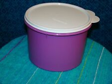 Tupperware Round Nesting Storage Canister Container Purple/White NEW