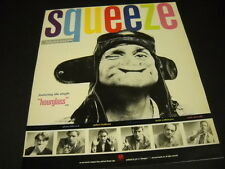 SQUEEZE 1987 Promo Display Ad BABYLON AND ON band members and leather helmet man