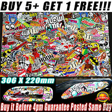 Sticker Bomb RC Decal Sheet A4 Suit 1/10 Drift Tamiya HPI Traxxas Body Chassis