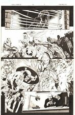 Captain America #22 p.7 Cap vs. Iron Man Action - Falcon - 2006 by Mike Perkins