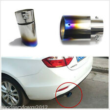 142 mm Slant Burnt Blue Titanium Car Stainless Steel Exhaust Mufflers Tail Pipe