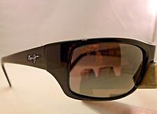MAUI JIM PEAHI MJ 202-02 GLOSS BLACK NEUTRAL GREY POLARIZED SUNGLASSES NEW