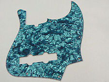 D'ANDREA PRO JAZZ BASS PICKGUARD 10 HOLE AQUA PEARLOID MADE IN THE USA