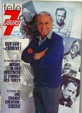 Télé 7 Jours n°1182 - 1983 -Guy Lux - Michel Olivier - Carole Laure - Sapritch