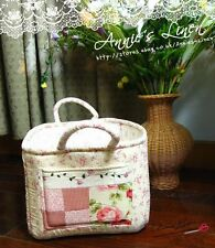 Pink Country Patchwork Laura Ashley Fab Picnic Storage/Laundry Basket/Bag B11
